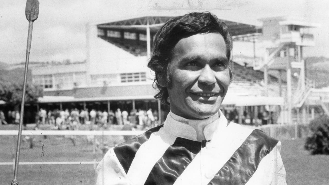 Jockey Darby McCarthy at Victoria Park Racecourse, 29 Nov. 1978. (Pic by unidentified staff photographer)