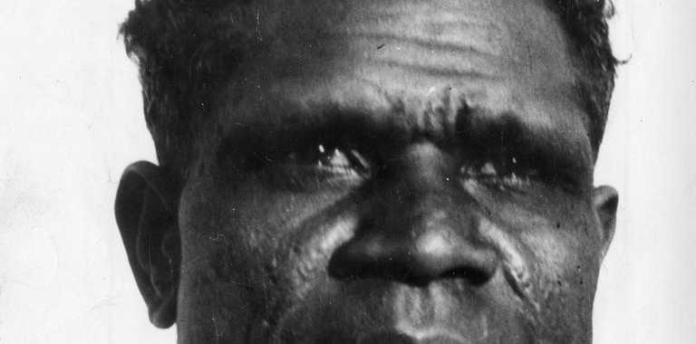 1930s-era Queensland Aboriginal cricketer fast bowler Eddie Gilbert. Copyright unknown.