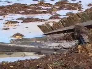 Beach erosion reveals 157-year-old find