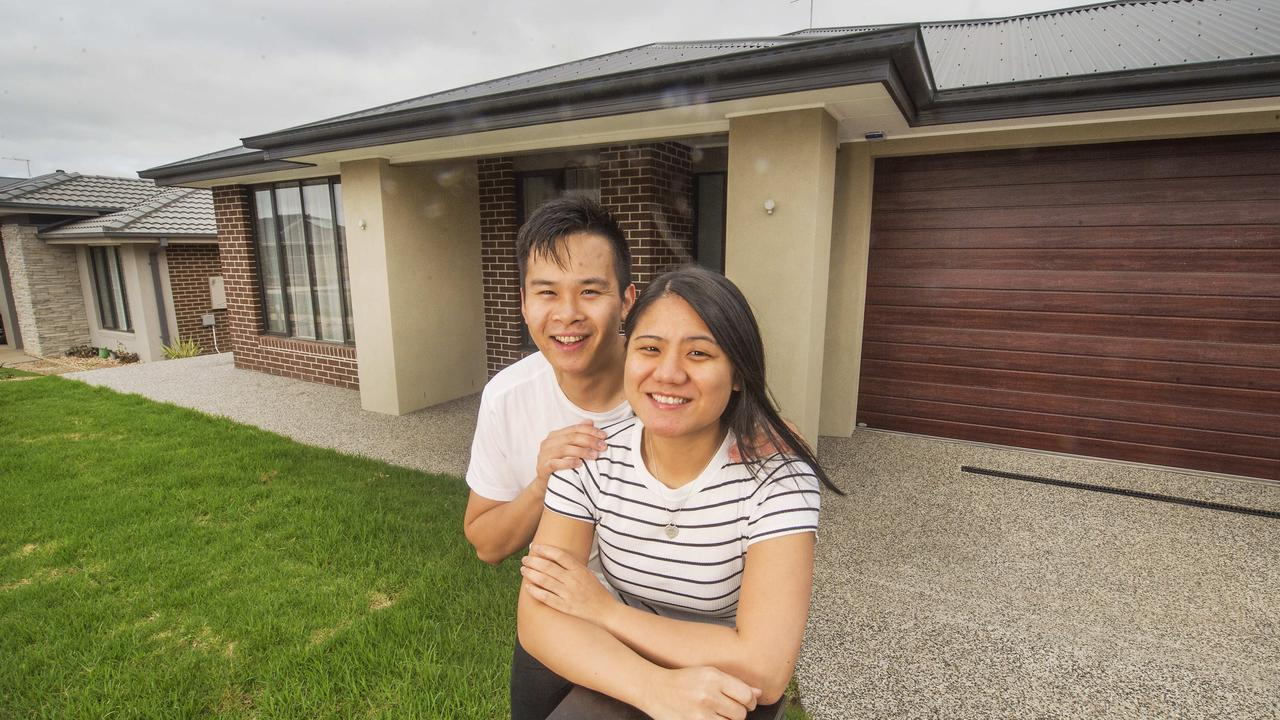 Nathan Was and Kathy La needed help from their parents to buy their first home in Diggers Rest. Picture: Rob Leeson