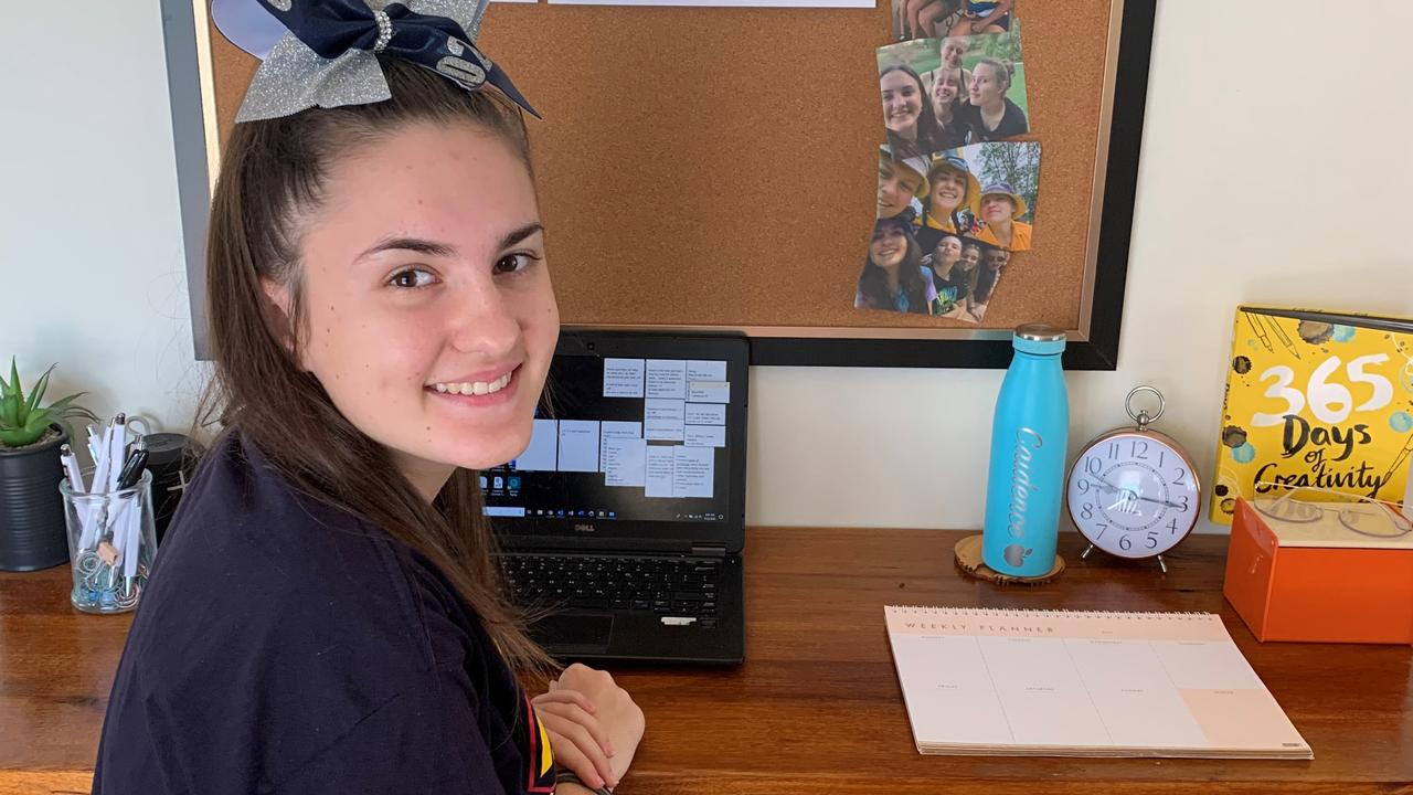 MISSING SCHOOL: Year 11 Redeemer Lutheran College student Caidence Appel is excited to get back in the classroom on Monday.