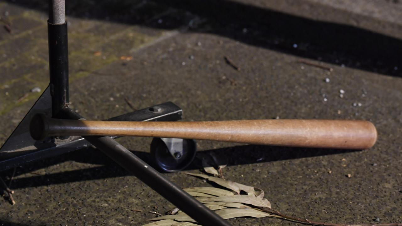 A baseball bat was allegedly used in the attack.