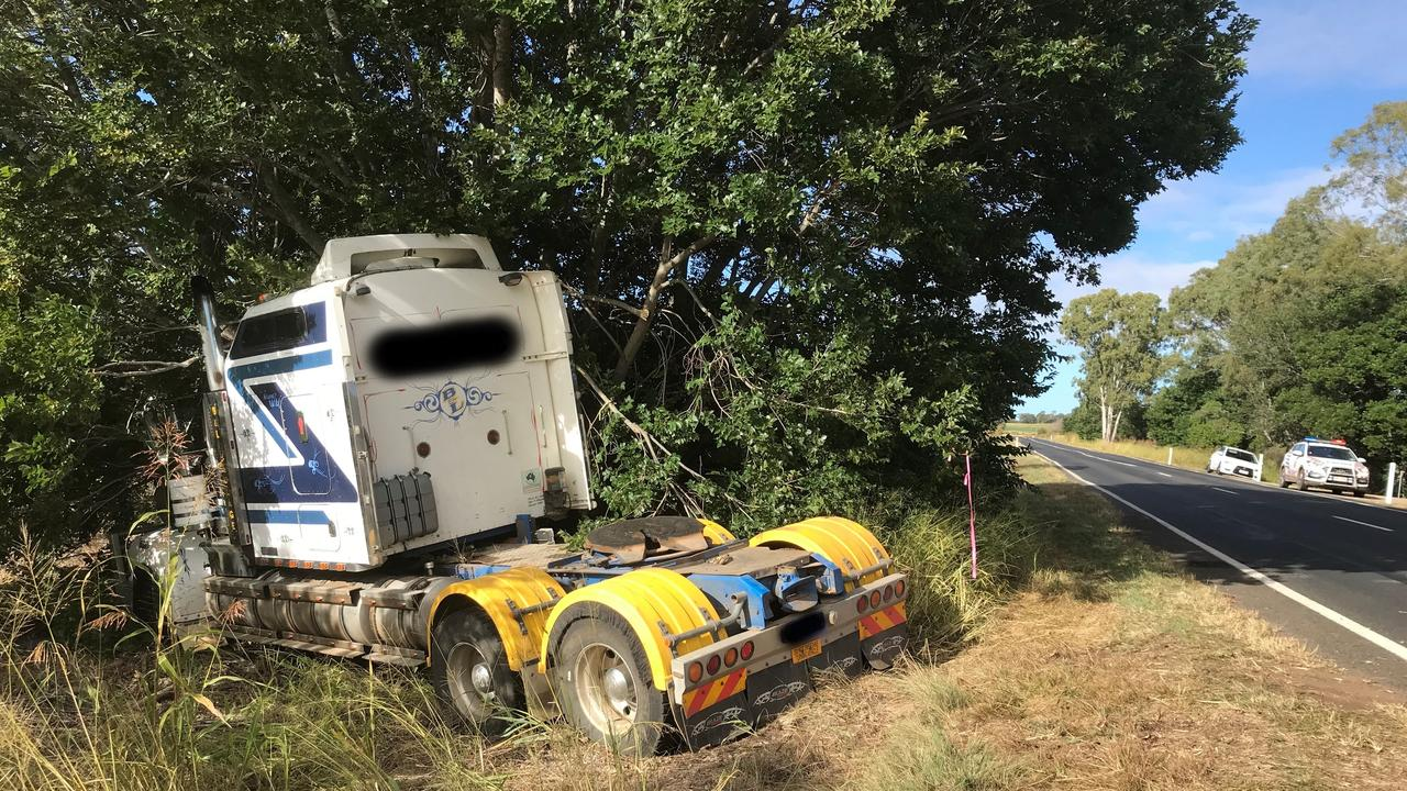 The aftermath of a traffic incident involving a truck and two vehicles between Tingoora and Wondai this morning. Fortunately, no one was seriously injured.