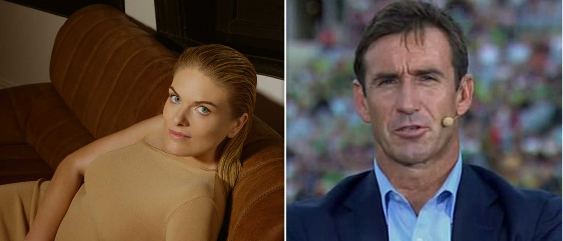 Erin Molan was trolled online after rumours surfaced last year that she did not get along with fellow Channel 9 commentator and legend Andrew Johns.