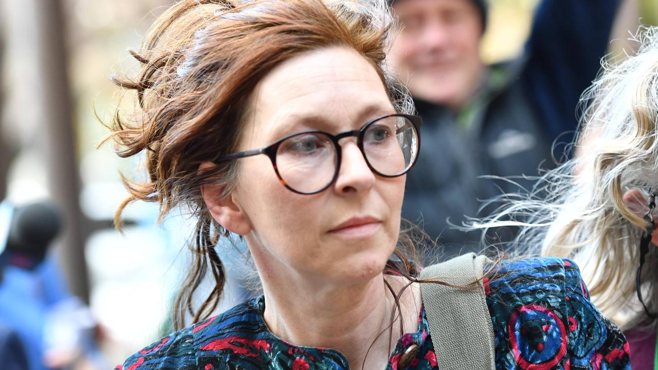 Lisa Barrett leaves court during her trial on two counts of manslaughter in 2019. She was acquitted of the charges. Picture: Keryn Stevens/AAP