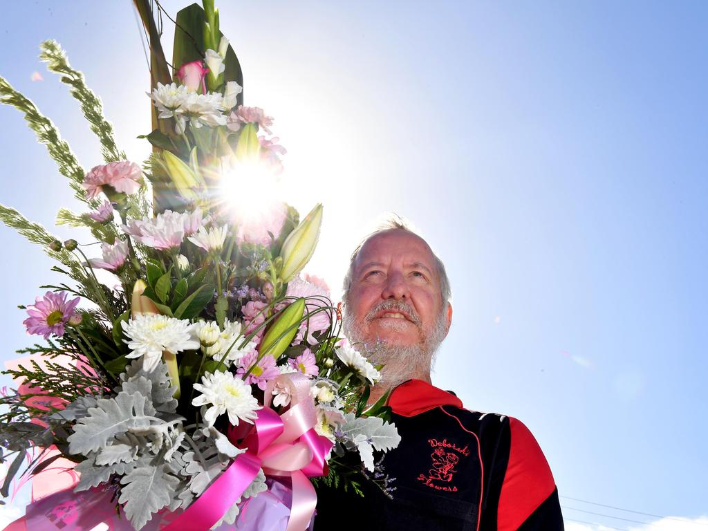 Scott Osborne from Deborah's Flowers says he has been inundated with customers ahead of Mother's Day. Picture: Tony Martin