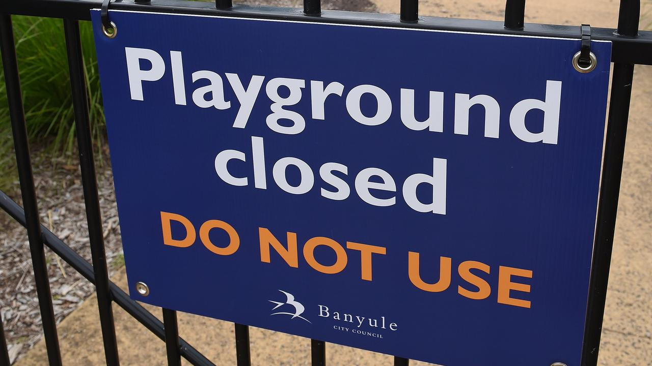 Scott Morrison says playgrounds may be reopened fairly soon. Picture Josie Hayden