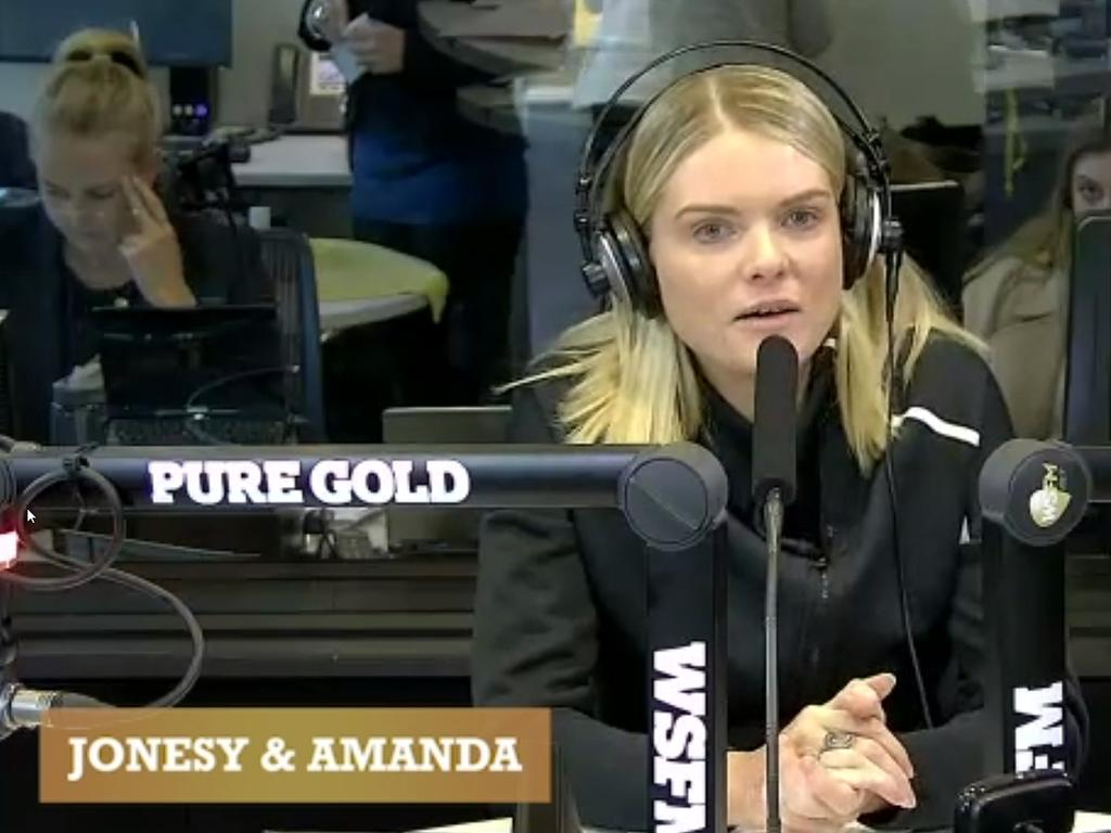 Erin Molan pictured on WSFM.