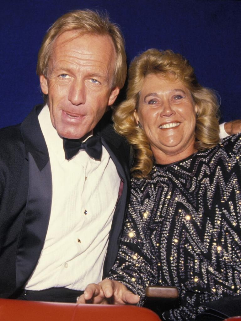 Paul Hogan with his first wife, Noelene. Picture: Getty Images