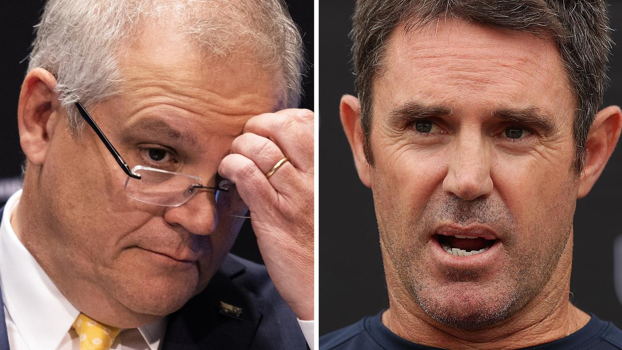 "Brad Fittler has questioned Scott Morrison's ""no jab, no play"" stance."