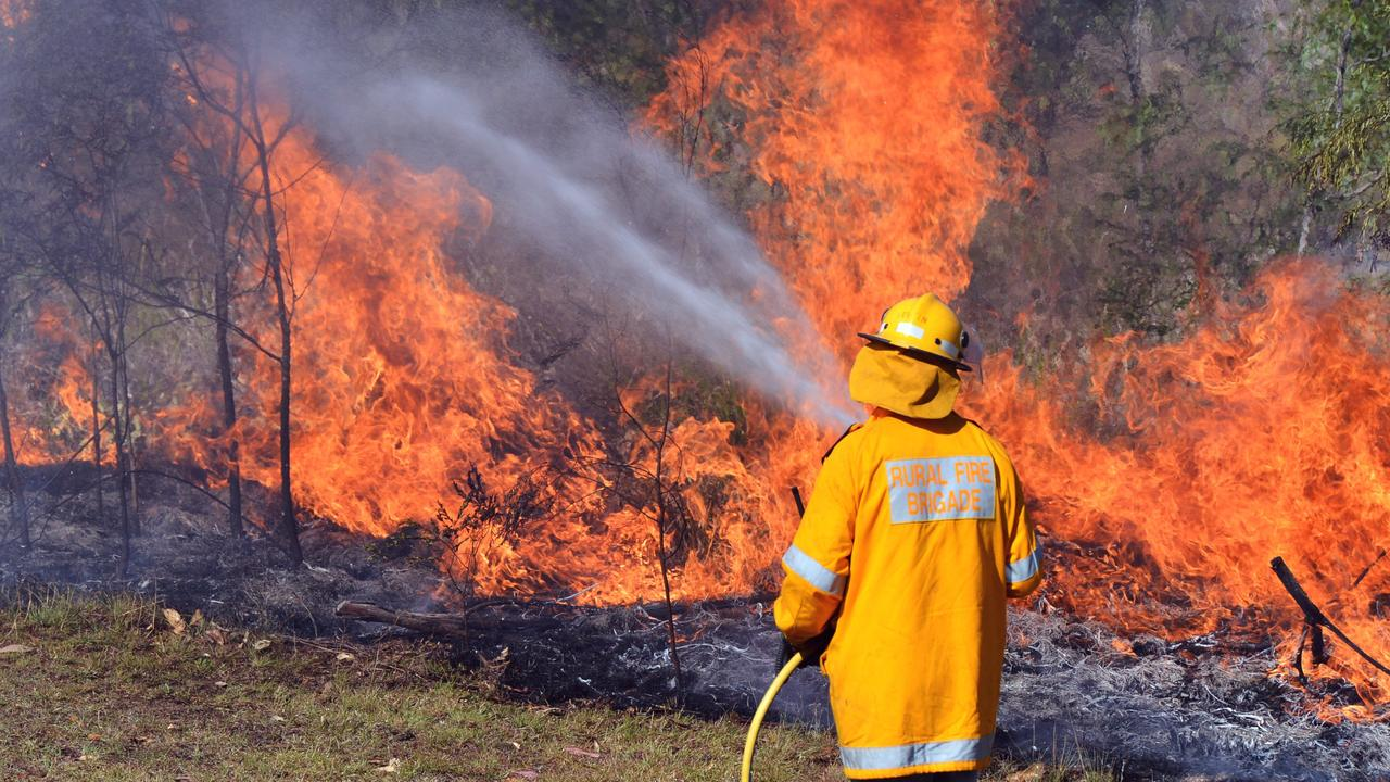 Rural Fire at Beckmanns Road, Glenwood. Back burning operations on the Timmis property. Photo Greg Miller / The Gympie Times