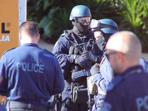 Heavily armed tactical police involved in operation