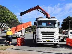 Removal of Tweed barriers