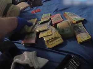 Cops seize $300k 'drug money' in huge bust