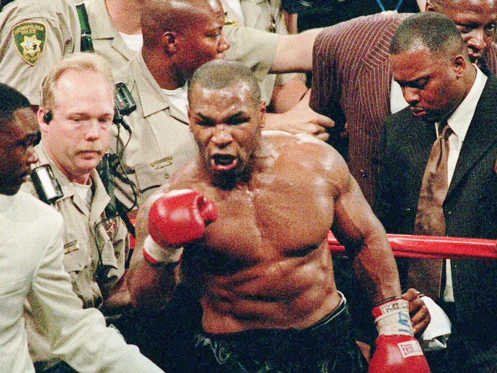 Tyson in Vegas in 1997. Picture: AP
