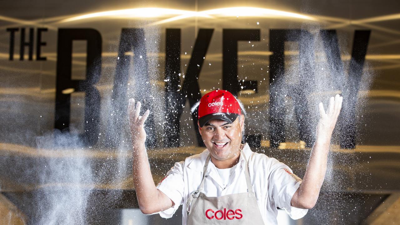 One of Coles' head bakers Peter Sanders.