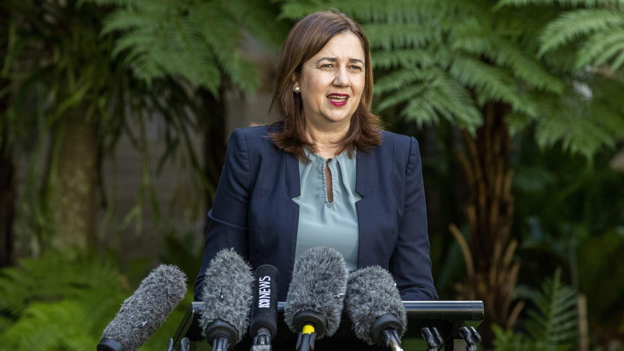 NEW FREEDOMS: Queensland Premier Annastacia Palaszczuk speaks to the media about easing of coronavirus restrictions. Picture: Richard Walker