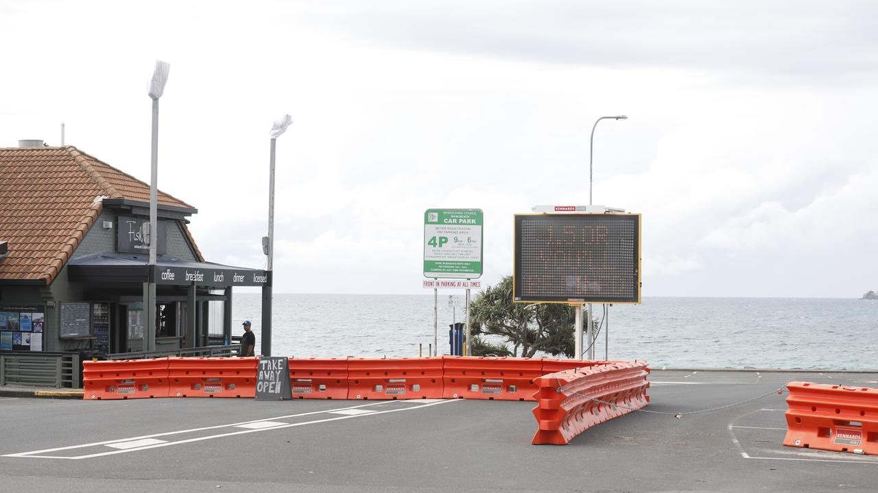 Byron Shire Council has closed Main Beach carpark in Byron Bay due to COVID-19.