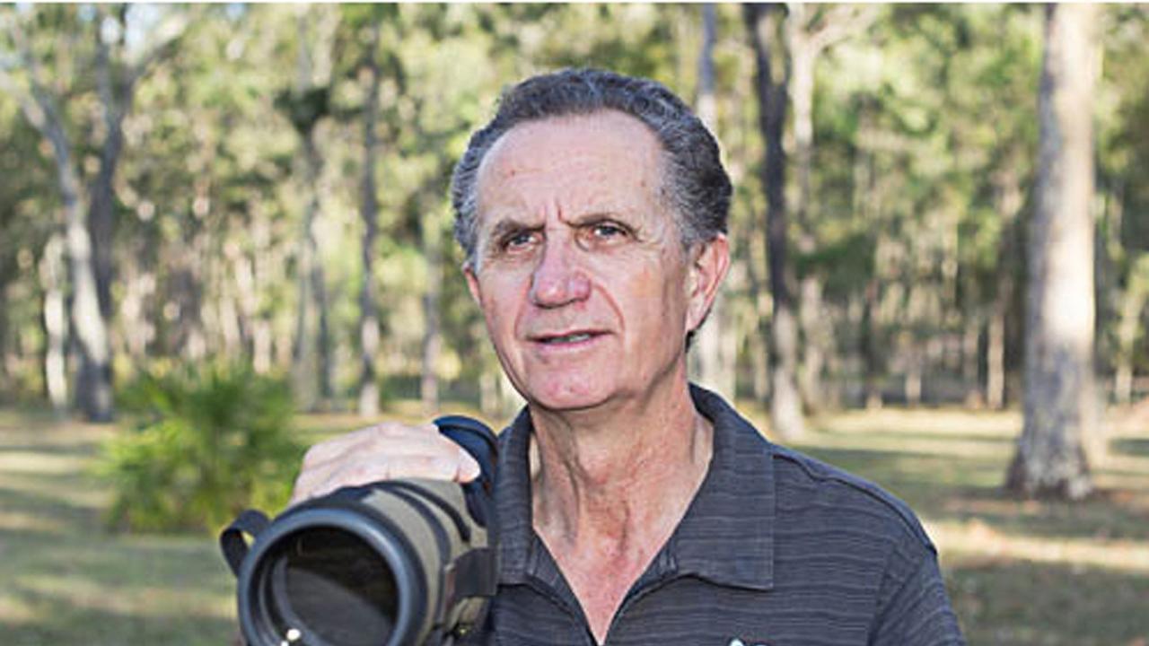 BUILDING NESTS: Allan Briggs, of Birdlife Capricornia.