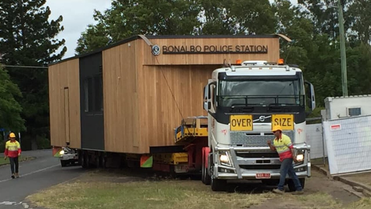 Bonalbo's new police station has arrived and will open in July. PIC: DEBBIE JOHNSTON