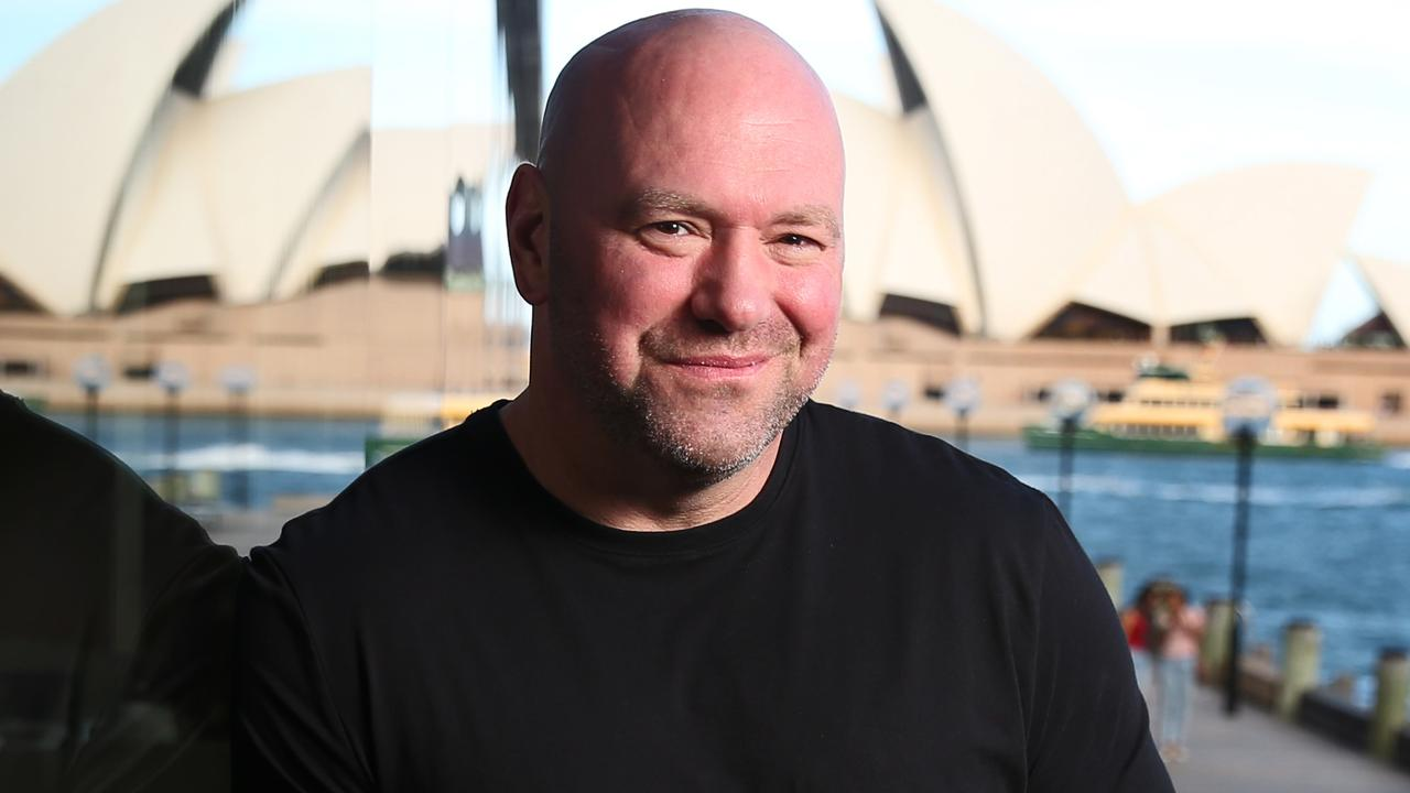 Pictured at the Park Hyatt Hotel at The Rocks in Sydney is UFC President Dana White. He is in Sydney to announce that UFC 234 will be held in Melbourne in February next year. Picture: Richard Dobson
