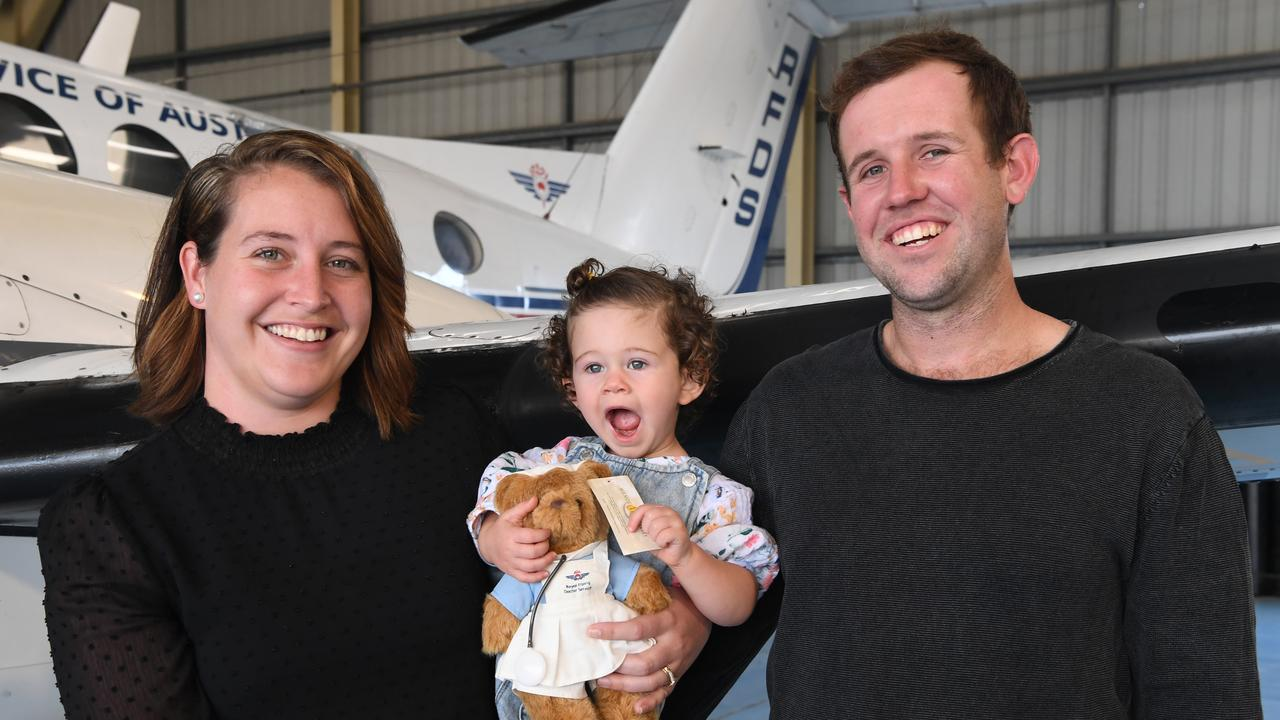 Shantell Kennell with daughter Daisy and Joel Streeter