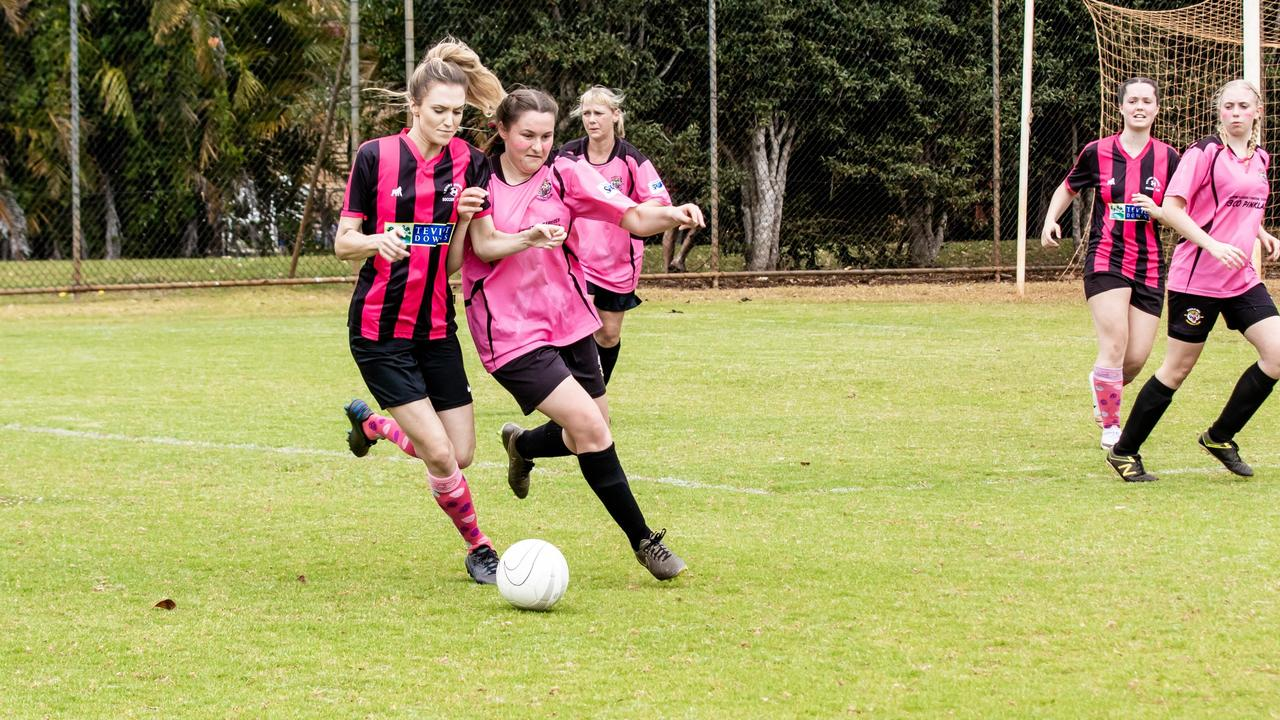 Action from the Oceania Cup soccer carnival at Alstonville last year. Physiotherapists are reminding people to train properly before returning to sport in July. Photo Ursula Bentley@CapturedAus