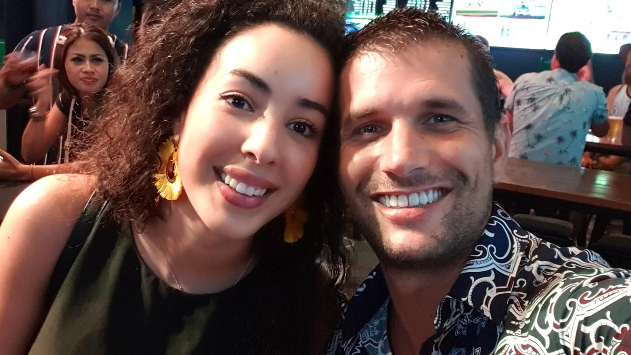 TRAPPED: Sabrina Silem and Alain Codino are stuck in Bali during the coronavirus crisis.