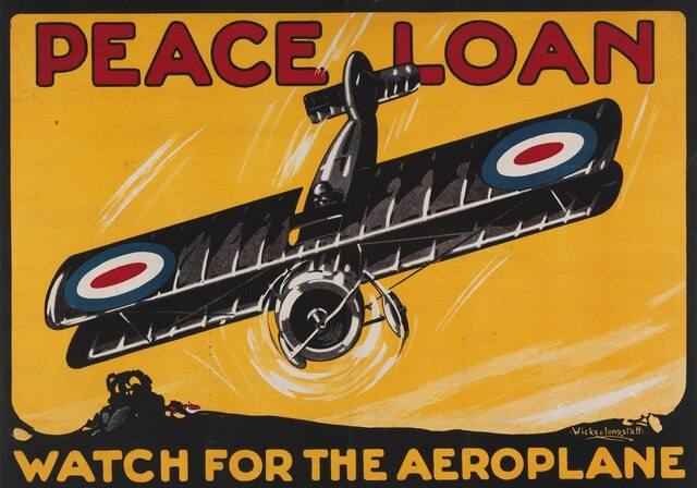 A poster, created in Melbourne for the Peace Loan circa 1919-1920. Picture: Australian War Memorial