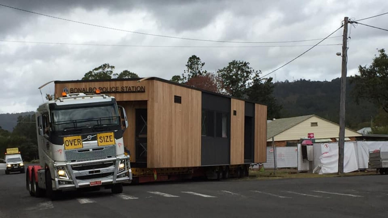 Bonalbo's new police station has arrived. PIC: DEBBIE JOHNSTON