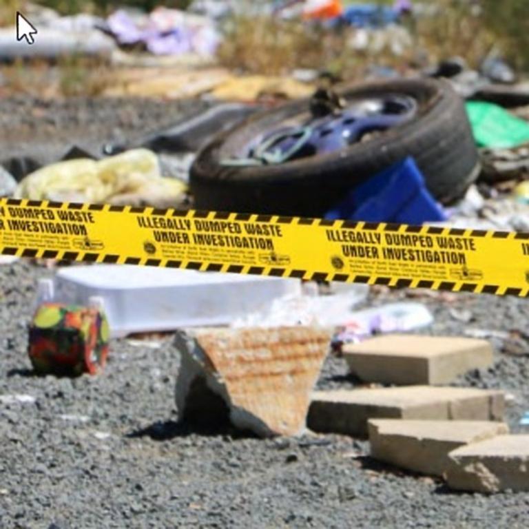 Dangerous material was dumped at Dalveen.