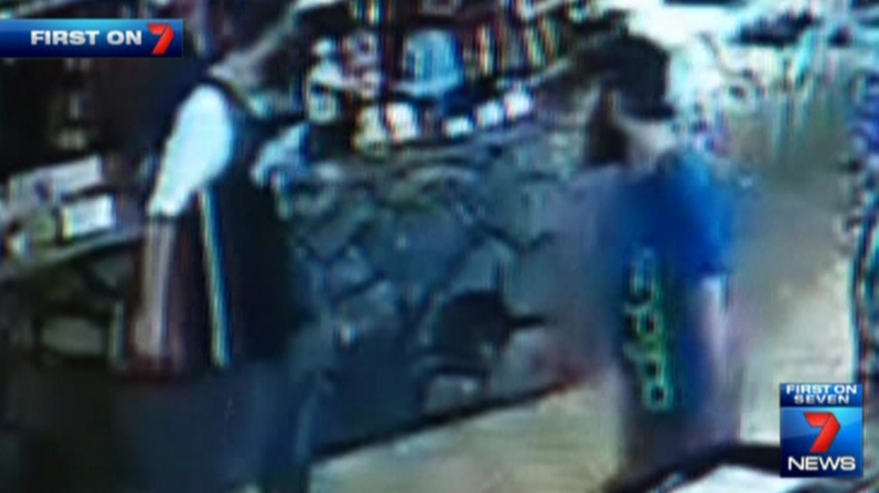 Security camera footage from the Palmer River Roadhouse of the 'tinnie terrorists' stocking up supplies. Picture: Seven