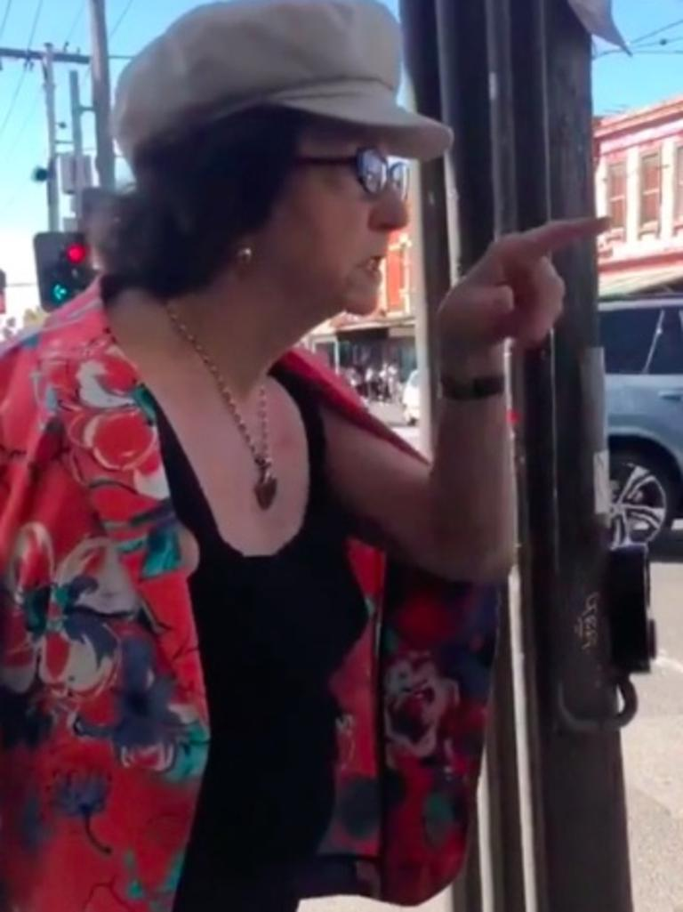 The woman was filmed telling a group of women to 'speak English'. Picture: Romano16 via Reddit