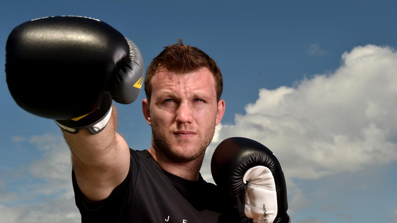 Boxer Jeff Horn on the Strand. Picture: Evan Morgan