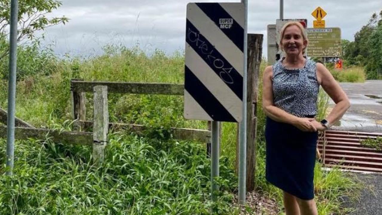 Mudgeeraba MP Ros Bates at the Queensland-NSW border in the Gold Coast hinterland.