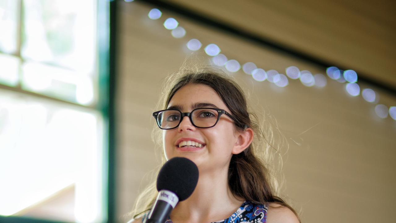 Tallula Bourne, who leads the local Auslan singing choir.