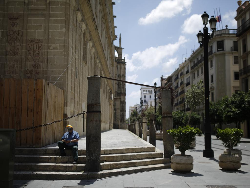 Spain is opening businesses such as hairdressers, delivery food restaurants and book shops after weeks of lockdown. But official reports predicts a second and third wave of the virus. Picture: Getty Images