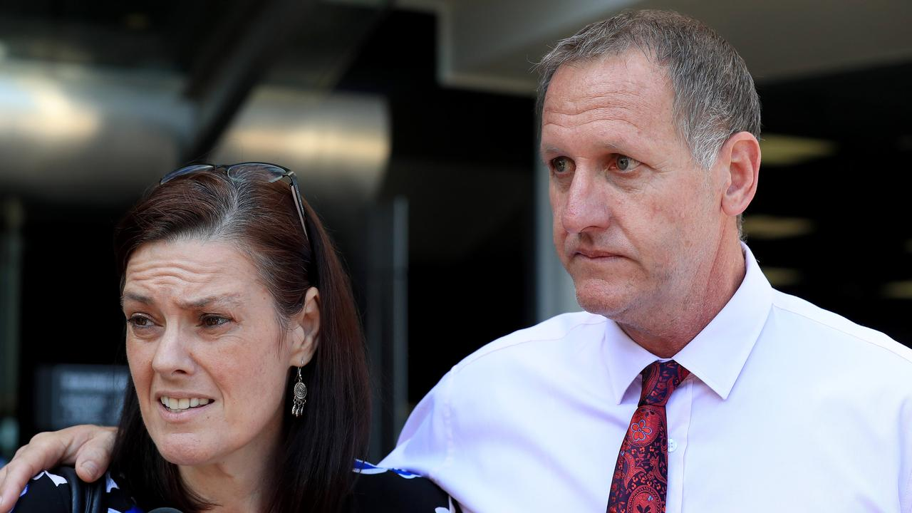 Tracey and Peter Brose leave court after the verdict. Picture: Adam Head