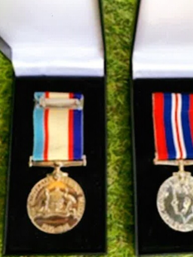 An Australian Service medal and a war medal of Roy Dennien. (Photo: Contributed)