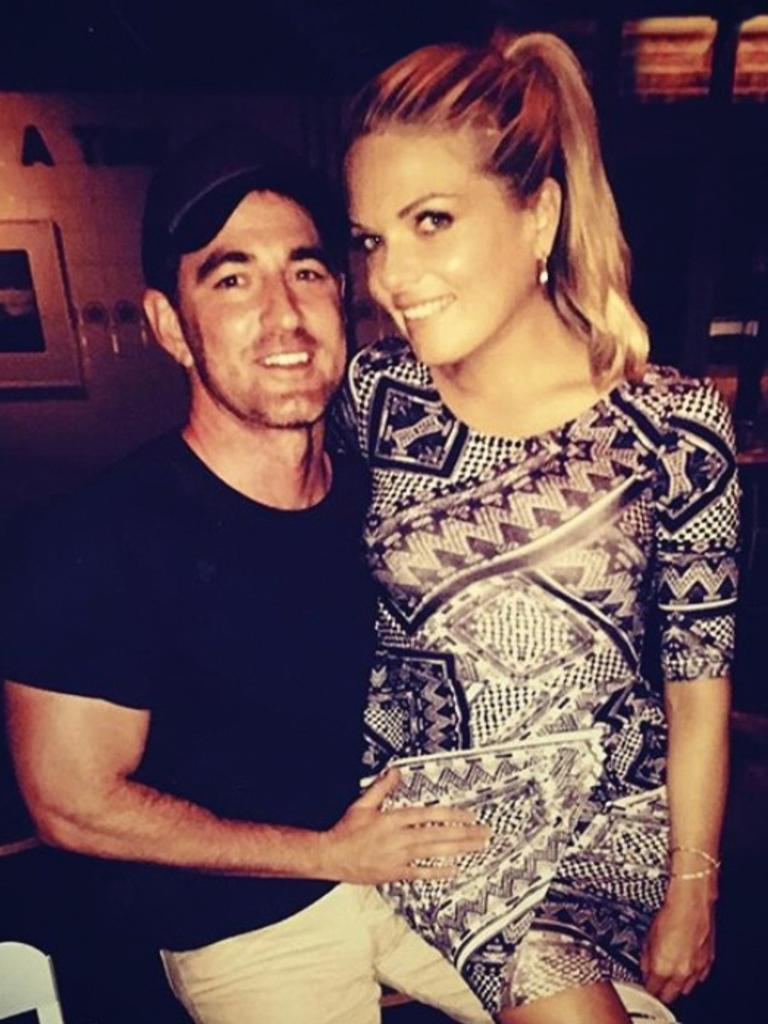 Molan with her fiance Sean Ogilvy. Picture: Supplied