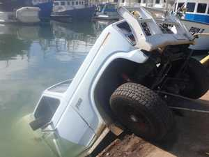 Whoops! Truck goes in the drink at marina
