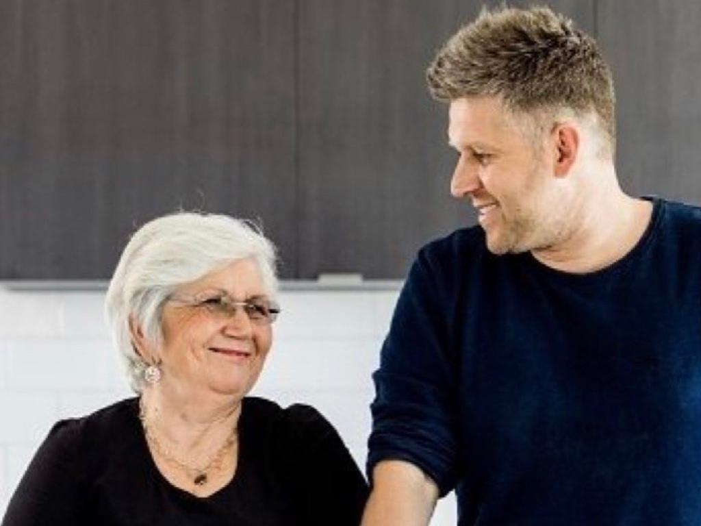 Massimo Mele, right, with his mother, Maria Mele. Picture: Supplied