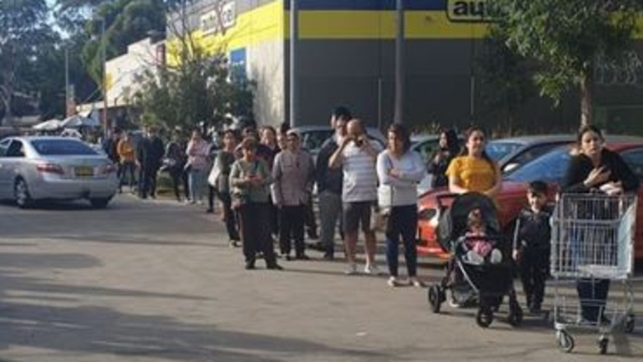 Another shopper showed a photo of this impossibly long line.