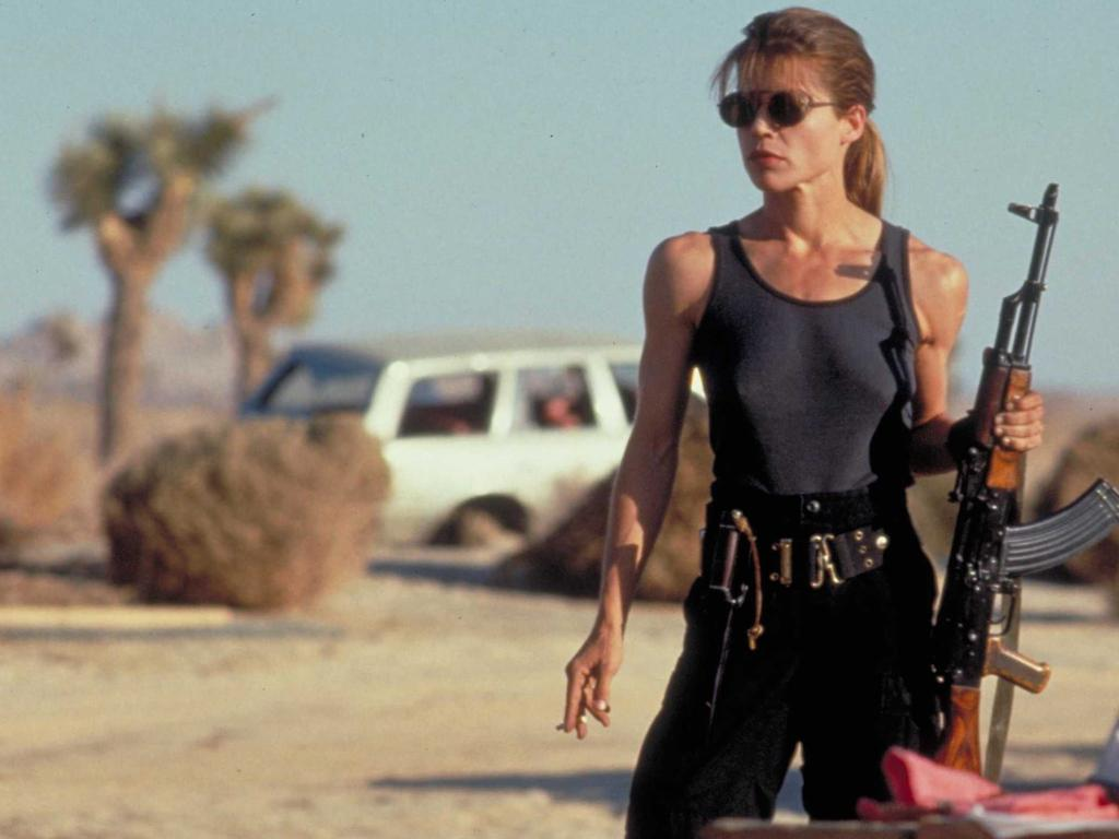 Linda Hamilton played one fierce mother in Terminator 2. Picture: Supplied