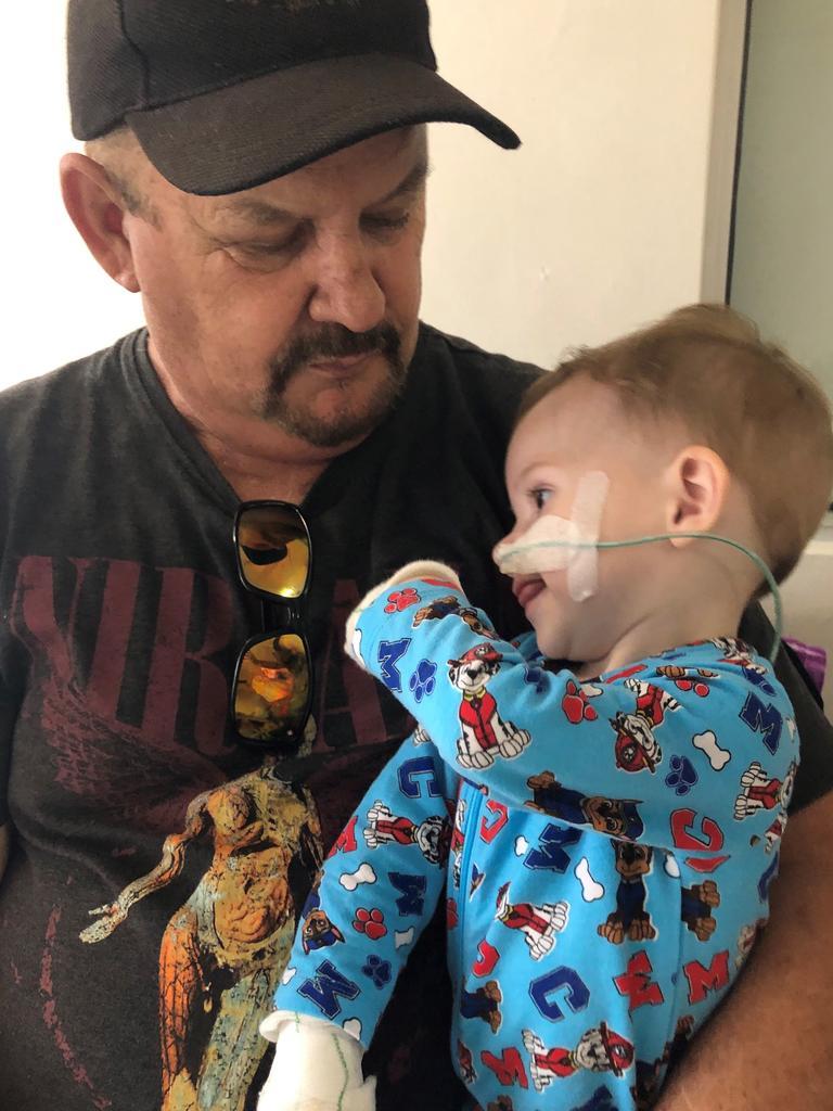 Wayne Smith with grandson Adam.