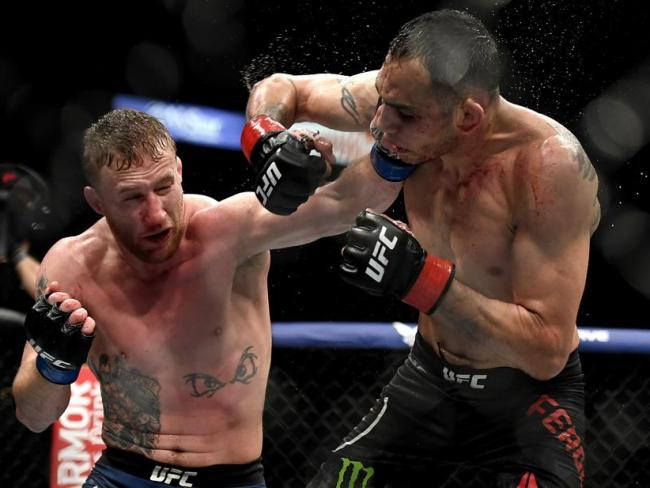 Gaethje landed blow after blow to earn a fifth round TKO.