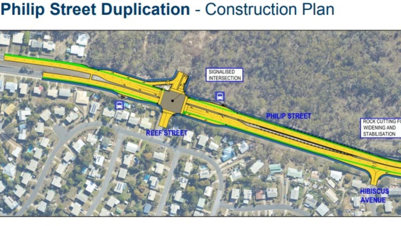 The Philip Street duplication construction plan.