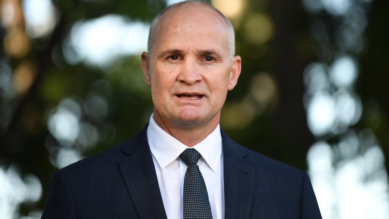 Newly sworn Queensland Minister for Regional Development and Manufacturing Glenn Butcher. (AAP Image/Dan Peled)