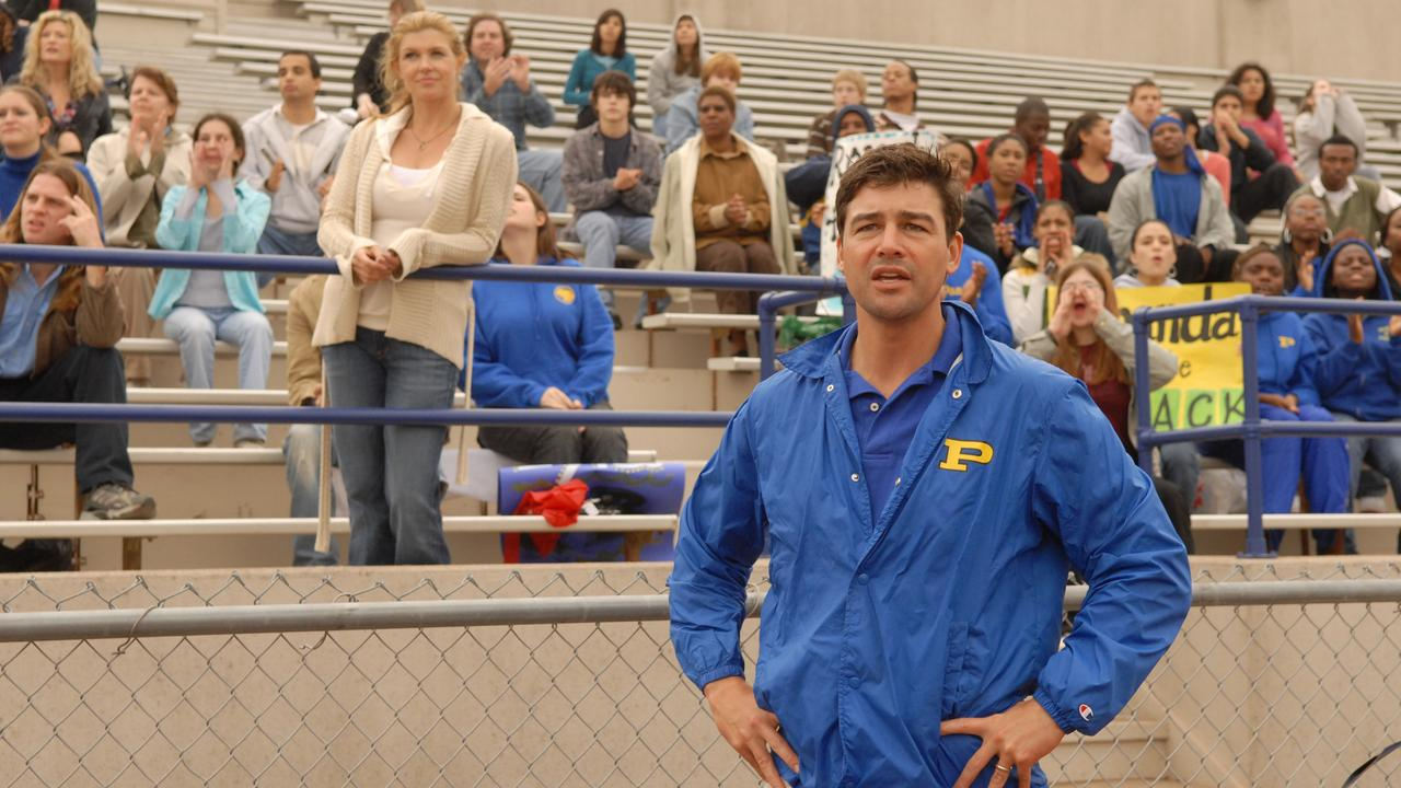 Coach Eric Taylor a scene from Friday Night Lights.