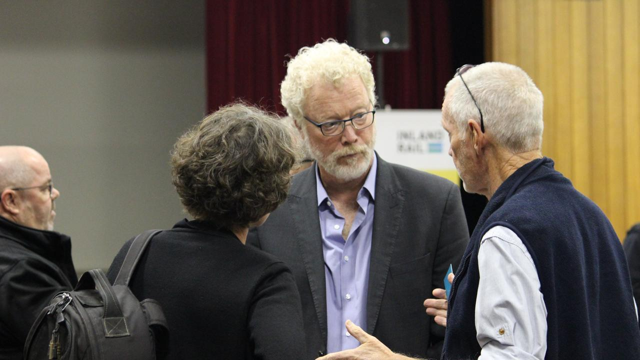 Inland Rail CEO Richard Wankmuller speaks with community members at the Lockyer Valley Community Consultative Committee meeting on Tuesday, June 11, 2019.